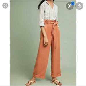 NWT Anthropologie Blythe orange pants